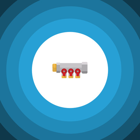 Isolated Controller Flat Icon. Pipework Vector Element Can Be Used For Pipe, Controller, Pipework Design Concept.