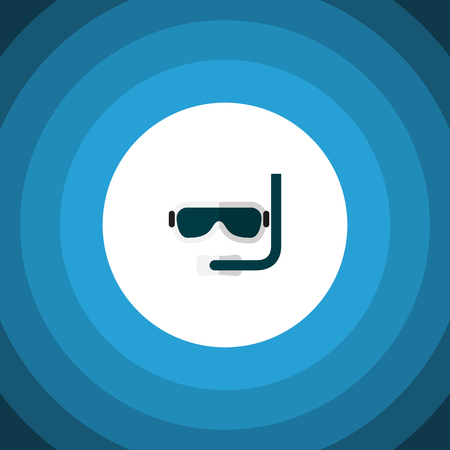 Scuba Diving Vector Element Can Be Used For Diving, Aqualung, Swimmer Design Concept.  Isolated Aqualung Flat Icon.
