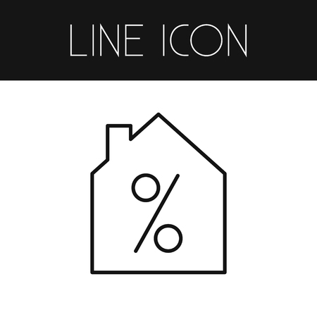 selling service: Isolated Home On Sale Outline. Special Offer Vector Element Can Be Used For Home, Sale, Percentage Design Concept.