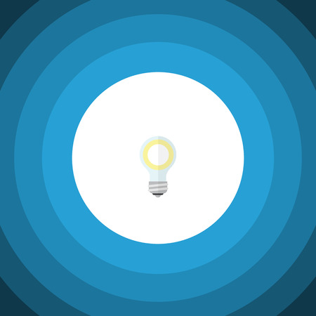 opinion: Isolated Bulb Flat Icon. Lightbulb Vector Element Can Be Used For Lightbulb, Bulb, Light Design Concept. Illustration