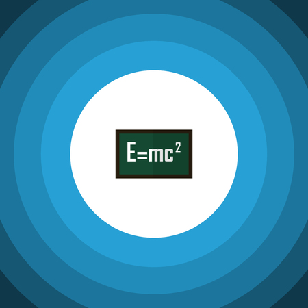 Isolated Formula Flat Icon. Theory Of Relativity Vector Element Can Be Used For Theory, Relativity, Formula Design Concept.