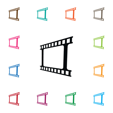 Isolated Video Icon. Photo Tape Vector Element Can Be Used For Video, Photo, Tape Design Concept.