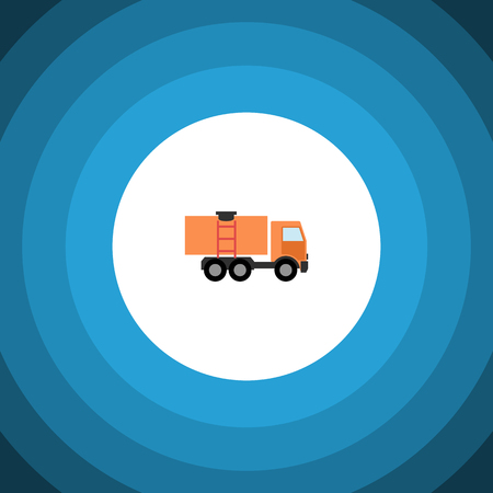 Isolated Truck Flat Icon. Van Vector Element Can Be Used For Truck, Van, Lorry Design Concept. Illustration