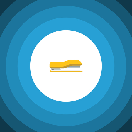 Isolated Stapler Flat Icon. Supplies Vector Element Can Be Used For Staple, Supplies, Tool Design Concept.