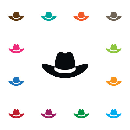 Cowboy Vector Element Can Be Used For Cap, Hat, Gaucho Design Concept.  Isolated Gaucho Icon.
