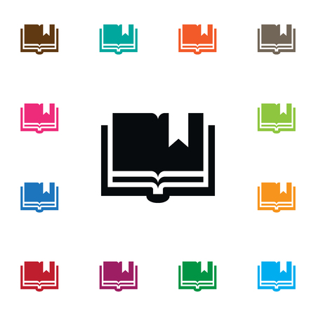 onderwijs: Book Vector Element Can Be Used For Book, Textbook, Encyclopedia Design Concept.  Isolated Textbook Icon. Stock Illustratie