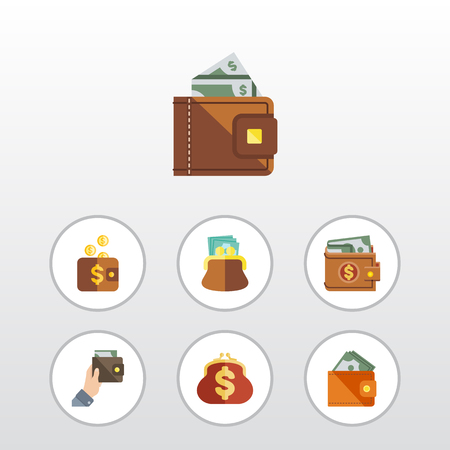 billfold: Flat Icon Billfold Set Of Finance, Purse, Payment And Other Vector Objects Illustration