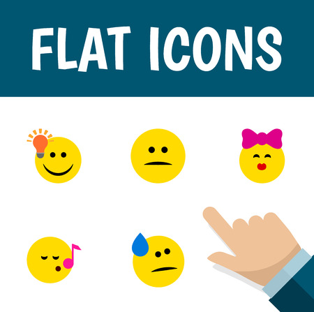 opinion: Flat Icon Gesture Set Of Tears, Caress, Descant And Other Vector Objects Illustration