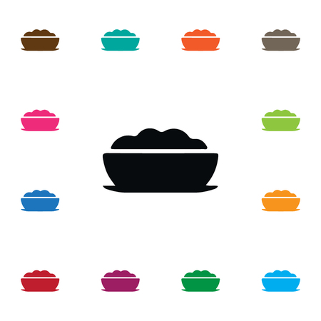 Breakfast Vector Element Can Be Used For Cornflakes, Food, Porridge Design Concept.  Isolated Cornflakes Icon. Çizim