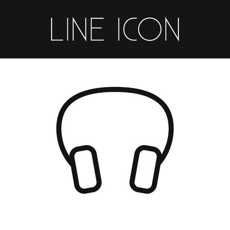 accessory: Earmuff Vector Element Can Be Used For Headphone, Earmuff, Headset Design Concept.  Isolated Headphone Outline.