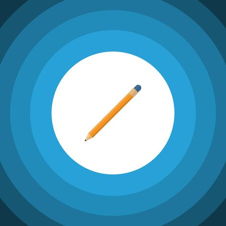 onderwijs: Drawing Tool Vector Element Can Be Used For Pencil, Drawing, Tool Design Concept.  Isolated Pencil Flat Icon.