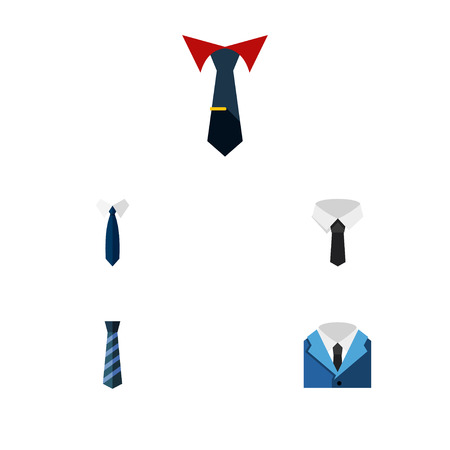 accessory: Flat Icon Clothing Set Of Suit, Tailoring, Textile And Other Vector Objects