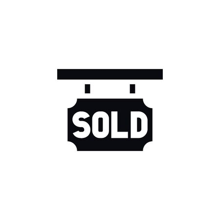 real estate sold: Sold Sign Vector Element Can Be Used For Sold, Purchase, Realtor Design Concept.  Isolated Purchase Realtor Icon.