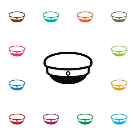 accessory: Seaman Vector Element Can Be Used For Captain, Hat, Seaman Design Concept.  Isolated Header Icon.