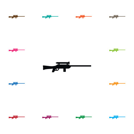 Isolated Sniper Icon. Sharpshooter Vector Element Can Be Used For Sharpshooter, Sniper, Gun Design Concept. Stock Vector - 88003355