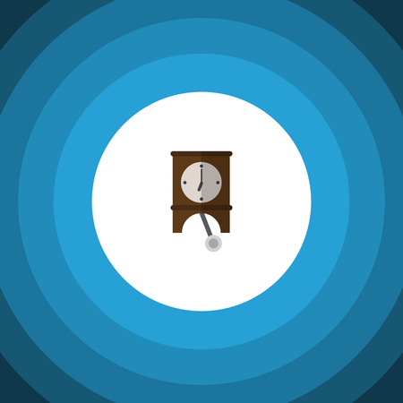 Isolated Pendulum Flat Icon. Clock Vector Element Can Be Used For Clock, Watch, Pendulum Design Concept.