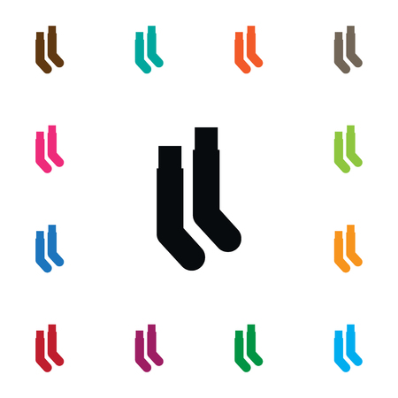 Isolated Hosiery Icon. Half-Hose Vector Element Can Be Used For Half-Hose, Hosiery, Sock Design Concept.