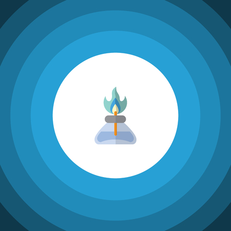 Isolated Gas Burner Flat Icon. Flame Vector Element Can Be Used For Flame, Gas, Burner Design Concept.
