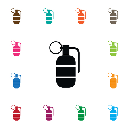 Isolated Ammunition Icon. Grenade Vector Element Can Be Used For Grenade, Bombshell, Ammunition Design Concept.