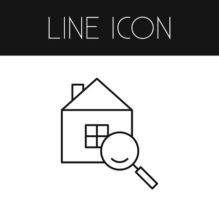 Isolated Search Outline. Magnifier Vector Element Can Be Used For Search, Magnifier, House Design Concept.