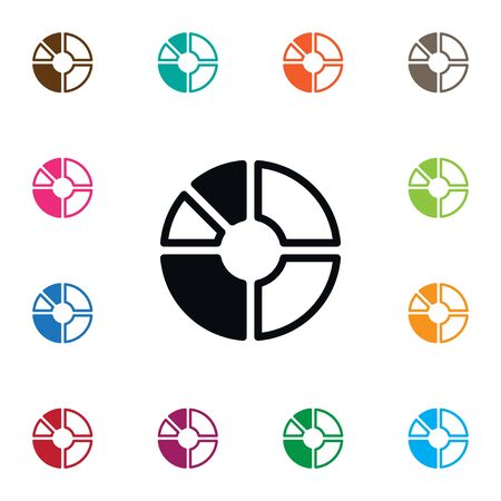 Isolated Report Icon. Segment Vector Element Can Be Used For Segment, Part, Circle Design Concept.