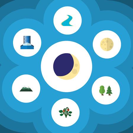 Flat icon ecology set.