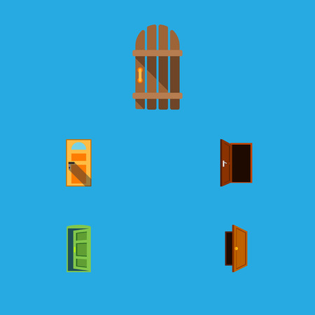 doorknob: Flat Icon Approach Set Of Approach, Exit, Entry And Other Vector Objects. Also Includes Frame, Approach, Door Elements.