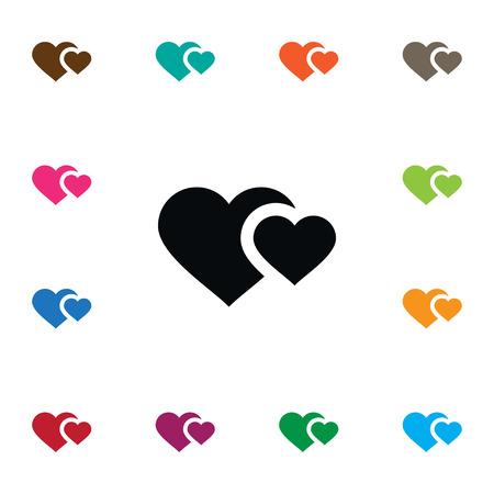 孤立ハートアイコン。ソウルベクター要素は、心、魂、愛のデザインのコンセプトに使用することができます。  イラスト・ベクター素材