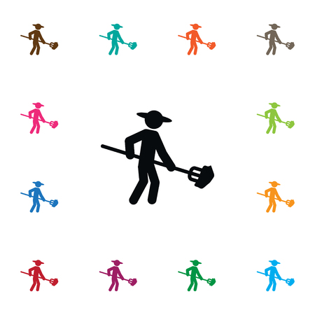 Isolated Husbandman Icon. Granger Vector Element Can Be Used For Husbandman, Farmer, Rancher Design Concept.