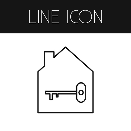 Isolated Protection Outline. Lock Vector Element Can Be Used For Key, Home, Lock Design Concept. Ilustração