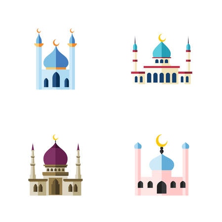 Flat Icon Mosque Set Of Structure, Traditional, Islam And Other Vector Objects. Also Includes Structure, Muslim, Islam Elements.