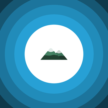 Isolated Mountain Flat Icon. Peak Vector Element Can Be Used For Mountain, Peak, Pinnacle Design Concept.