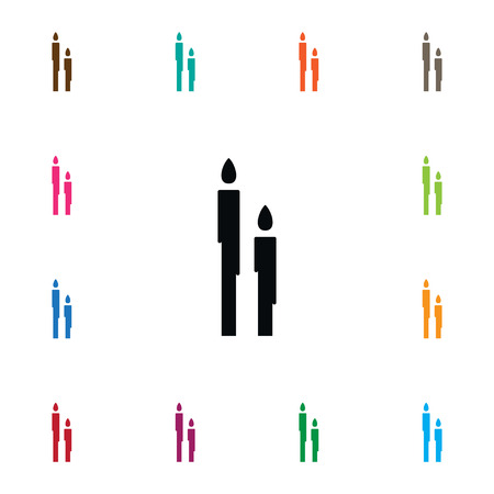 Isolated Burn Icon. Candle Vector Element Can Be Used For Candle, Suppository, Burn Design Concept.