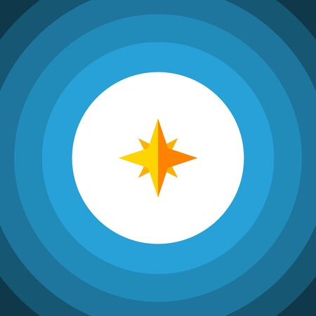 Isolated Starlet Flat Icon. Asterisk Vector Element Can Be Used For Star, Asterisk, Sky Design Concept.
