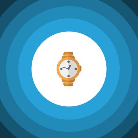ticker: Timer Vector Element Can Be Used For Wristwatch, Clock, Timer Design Concept.  Isolated Wristwatch Flat Icon. Stock Photo