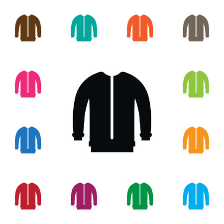 Isolated Sweatshirt Icon. Turtleneck Vector Element Can Be Used For Sweatshirt, Cloth, Jacket Design Concept. Illustration