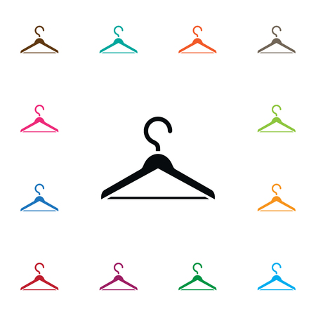 checkroom: Isolated Wardrobe Icon. Hanger Vector Element Can Be Used For Hanger, Wardrobe, Hook Design Concept. Illustration