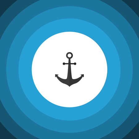 Isolated Anchor Flat Icon. Ship Hook Vector Element Can Be Used For Anchor, Ship, Hook Design Concept.