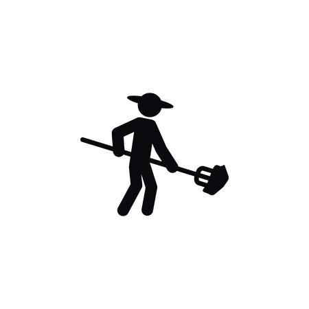 Isolated Husbandman Icon. Granger Vector Element Can Be Used For Husbandman, Farmer, Rancher Design Concept.