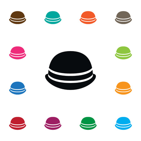 Isolated Trilby Icon. Cap Vector Element Can Be Used For Cloche, Hat, Trilby Design Concept. Illustration
