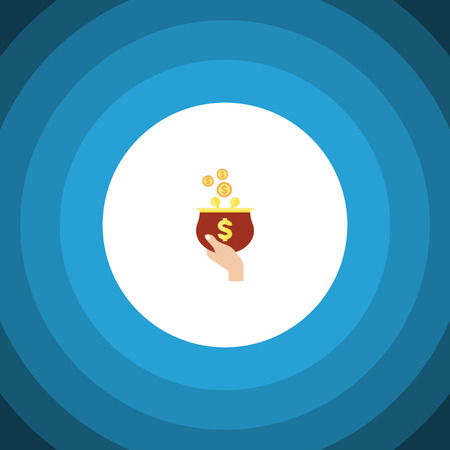 Isolated purse flat icon. Currency vector element can be used for purse, currency, money design concept.