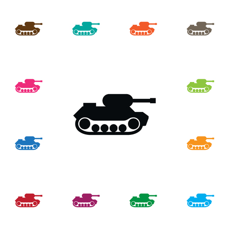 Isolated battle icon. Military vector element can be used for military, tank, battle design concept.