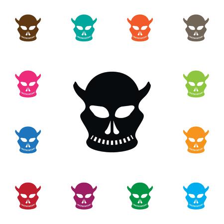 Isolated Skull Icon. Cranium Vector Element Can Be Used For Skull, Cranium, Creepy Design Concept.