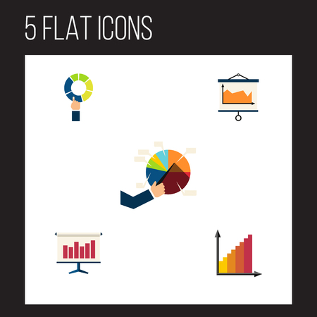 Flat icon diagram set of monitoring, graph, diagram and other vector objects