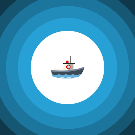 Isolated Vessel Flat Icon. Transport Vector Element Can Be Used For Vessel, Ship, Transport Design Concept.