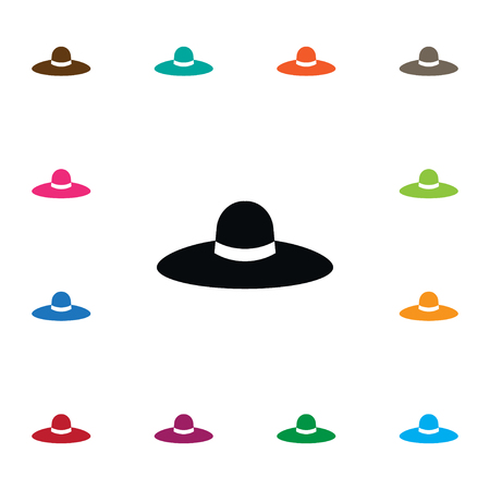 Isolated Panama Icon. Broad Brim Vector Element Can Be Used For Trilby, Panama, Hat Design Concept.
