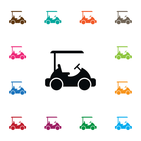 Isolated Golf Cart Icon. Sport Vector Element Can Be Used For Golf, Cart, Sport Design Concept.