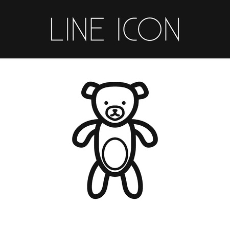 Isolated Toy Outline. Teddy Vector Element Can Be Used For Toy, Teddy, Bear Design Concept. Stock Illustratie
