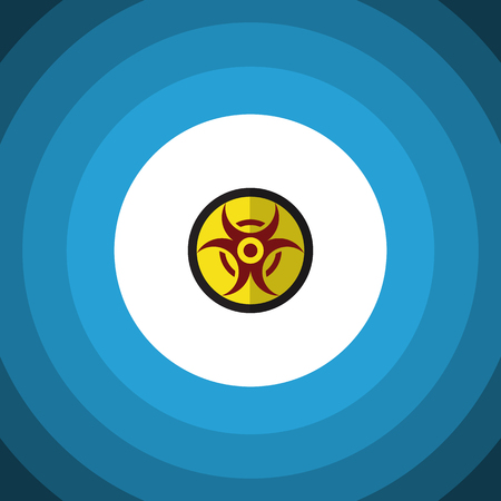 Isolated Biohazard Flat Icon. Danger Vector Element Can Be Used For Danger, Risk, Hazard Design Concept.