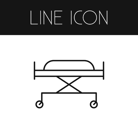 Isolated Stretcher Outline. Wheeled Bed Vector Element Can Be Used For Wheeled, Bed, Stretcher Design Concept. Ilustrace
